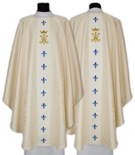 Marian Semi Gothic Chasuble model 659