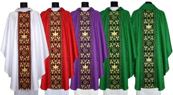 Set of Gothic chasubles model 603