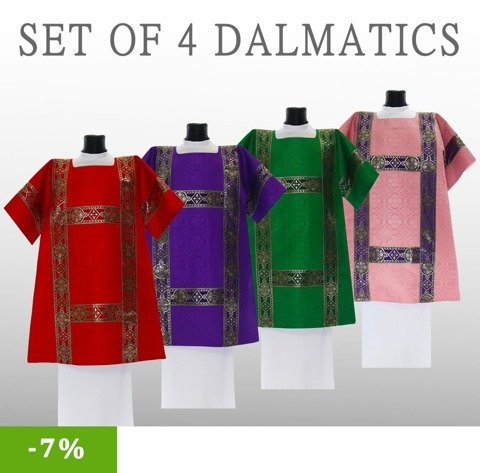 Set of 4 Roman Dalmatics model 201