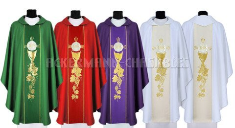 Set of Gothic Chasubles model 010