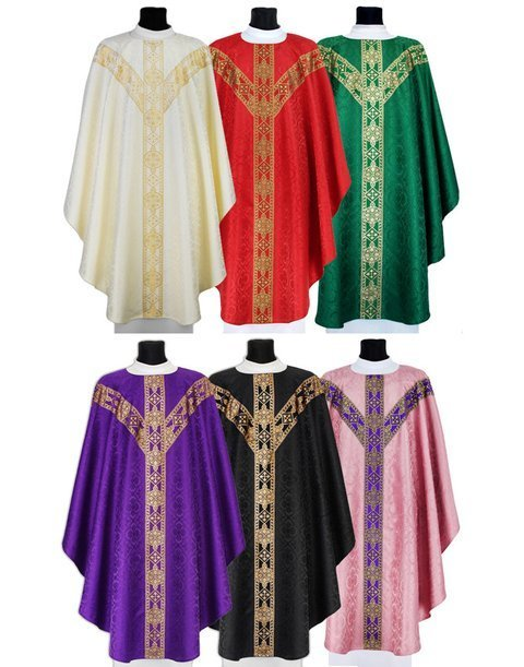Set of Semi Gothic Chasubles model 201