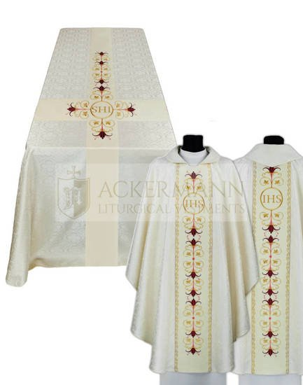 Funeral set of chasuble and funeral pall model 693