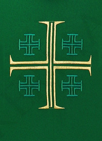 Gothic Chasuble Jerusalem crosses model 725