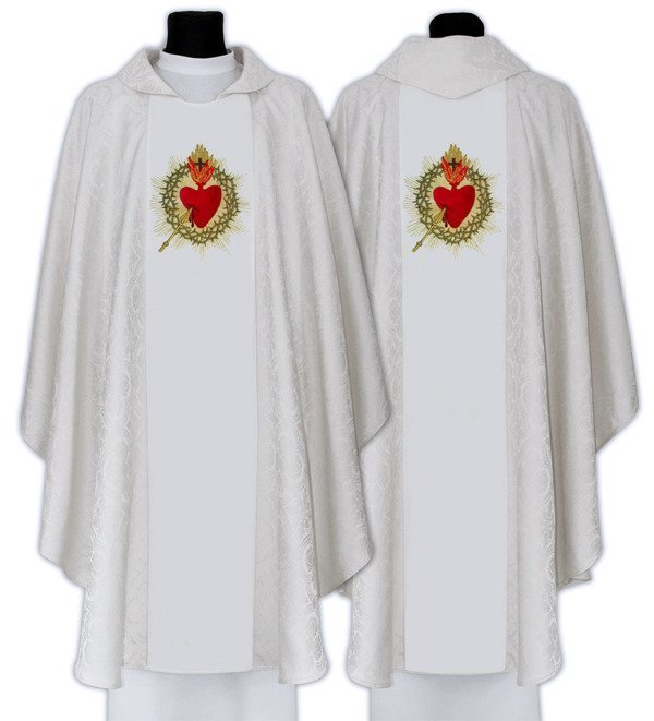 Gothic Chasuble Sacred Heart of Jesus model 714