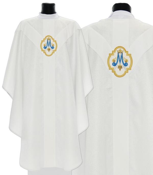 Marian Semi Gothic Chasuble model 205
