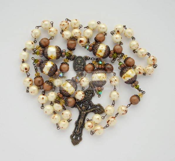 Rosary antique - cream