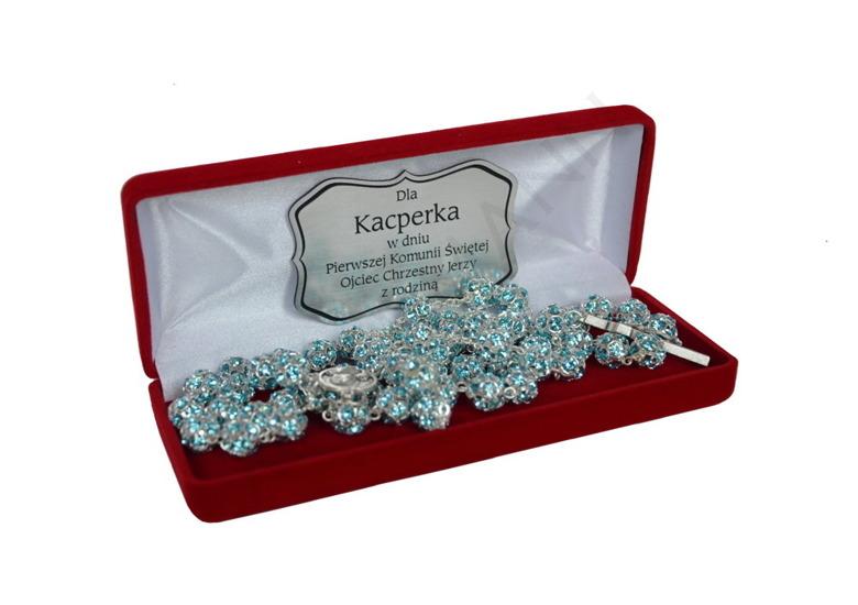 Swarovski Crystal Rosary Aqua