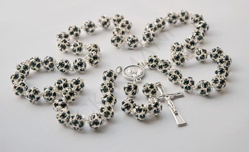 Swarovski Crystal Rosary Black