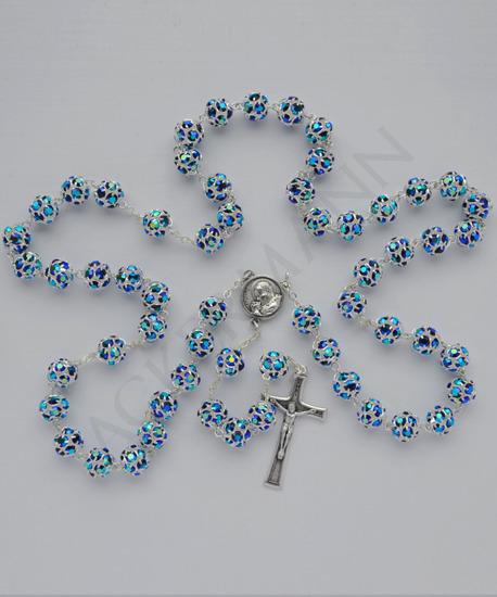 Swarovski Crystal Rosary Scarab