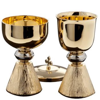 Set of small chalice and ciborium
