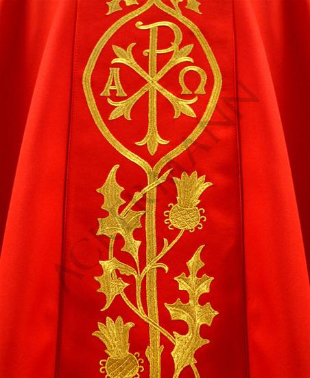 Gothic Chasuble Chi-Rho symbol ☧ model 531
