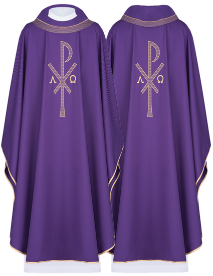 Purple Gothic Chasuble 7011