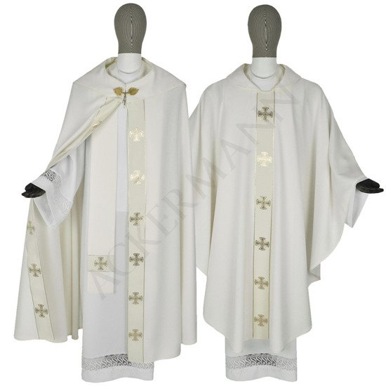 Set of Gothic Cope and chasuble Maltese Crosses model 104