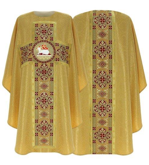 White Gothic Chasuble Lamb model 794