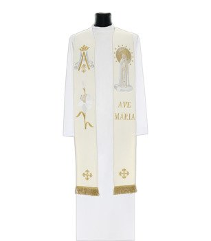 Gothic Stole Our Lady of Fatima model 728